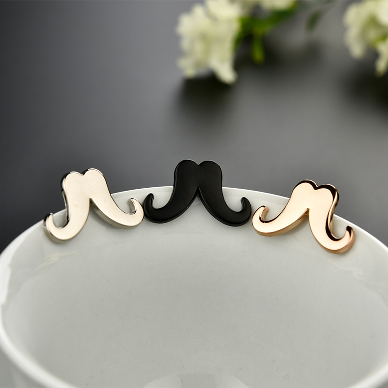 2016 New Fashion Personality Beard Shirt Collar Pin Refinement Black Men's Lapel Pins Brooch for Wedding 3 Colors for Choose(China (Mainland))