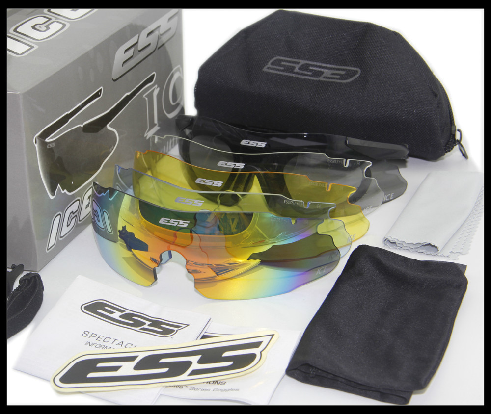 5 Pairs Lens ESS ICE 2.4 Safety Glasses Tactical Army Goggles TR90 Frame For Outdoor Shooting Hunting Wargame Not ESS Crossbow(China (Mainland))