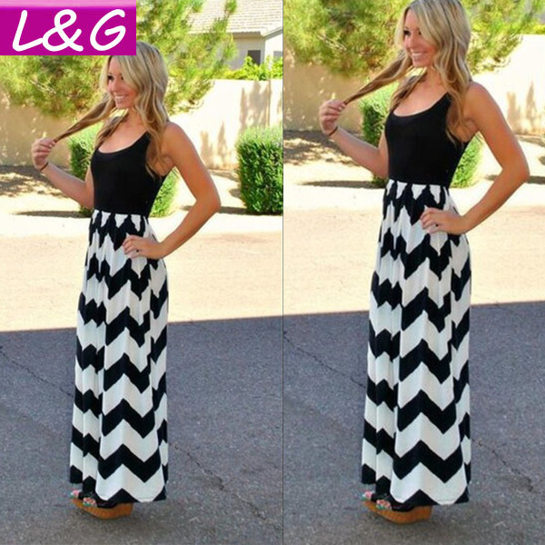 Women Summer Dress 2014 Hot Selling Sexy Wave Print Party Dresses Plus Size Long Maxi Dress Casual Vestidos Women Clothing 10143Одежда и ак�е��уары<br><br><br>Aliexpress