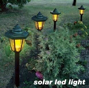 Solar Powered Panel LED Spot Light Landscape Outdoor Garden Path Lawn lamp Street Lights Solar Yard Decoratoin Lights Luminaria(China (Mainland))