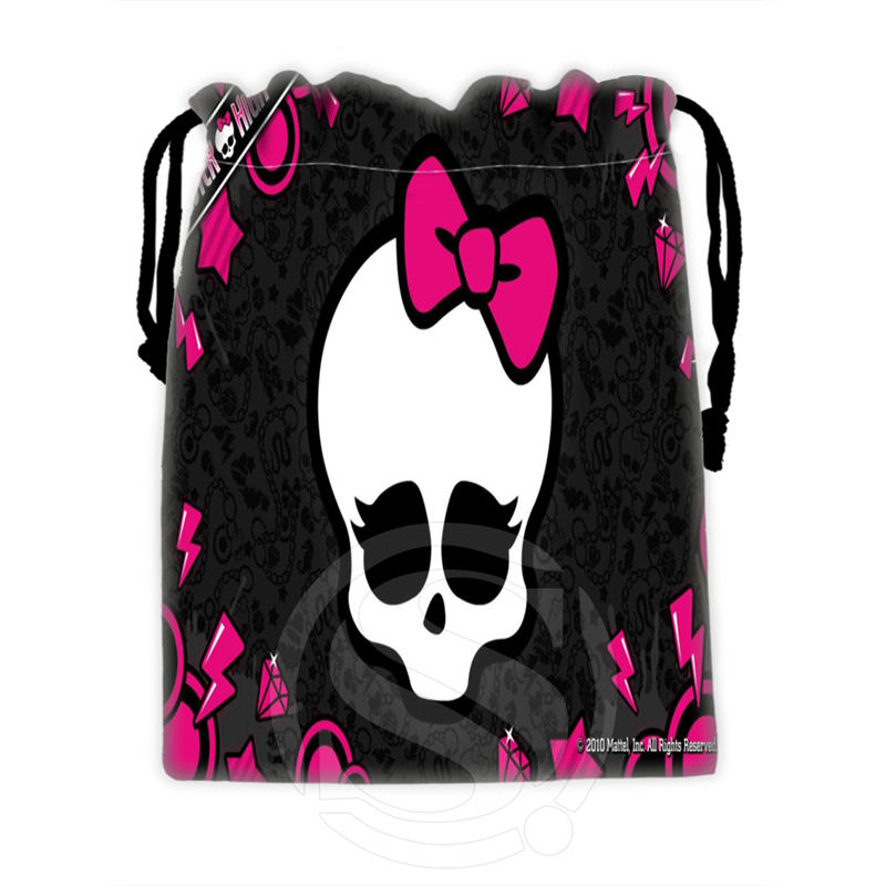 H-P758 Custom Monster high#2 drawstring bags for mobile phone tablet PC packaging Gift Bags18X22cm SQ00806#H0758(China (Mainland))
