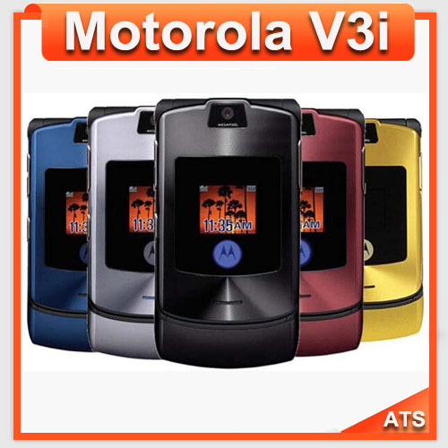 V3i Original Motorola v3i mobile phone unlocked v3i mobile phone All GSM Carrier work AT&T T-Mobile Russian Keyboard Support(China (Mainland))
