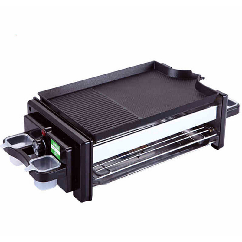 VOSOCO Electric grill Barbecue machine oven BBQ Multi mode electric Double deck Smoke free grill 1200W power Korean Barbecue(China (Mainland))