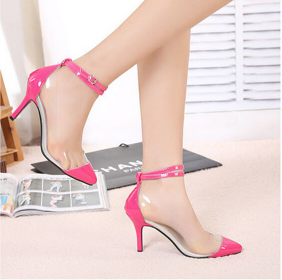 SEXY WOMEN patent leather 8.5CM high heels pointed toe pumps lady club party shoes sapatos feminino + free gift (sock) hn321-2(China (Mainland))