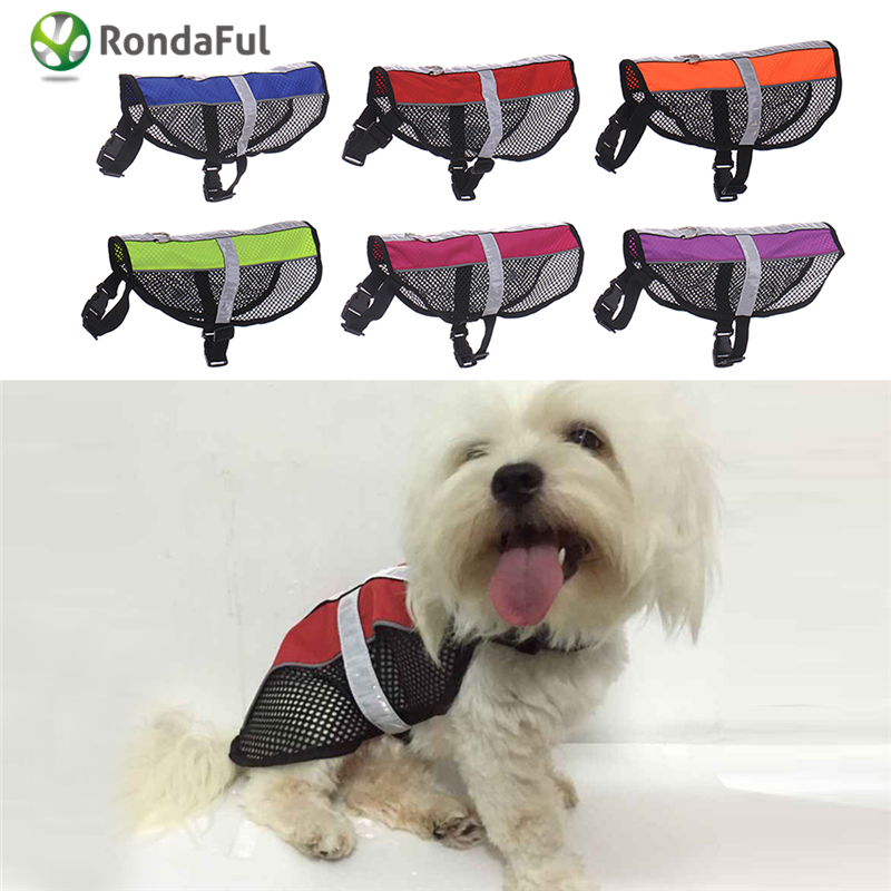 Reflective Service Dog Harness Vest Soft Mesh Adjustable Harness for Dogs Harnesses Chest 6 Colors S M Sizes(China (Mainland))