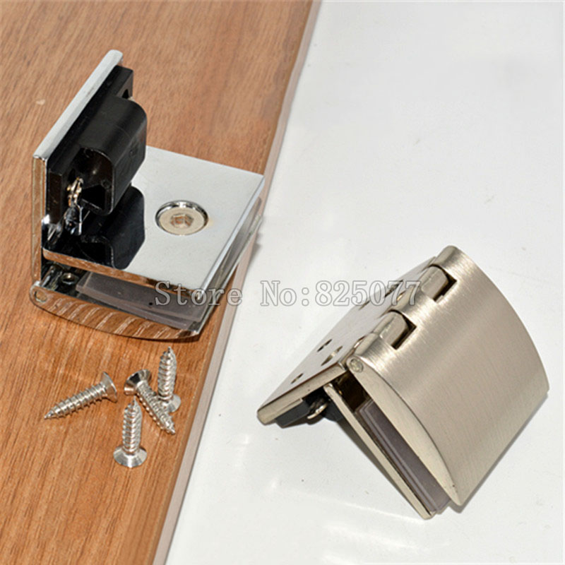 New Zinc Alloy glass door hinge for wine cabinet display window furniture hinges suitable for glass thickness 5-8mm JF1146(China (Mainland))