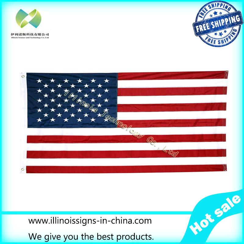Bandera de Irlanda cosida nylon