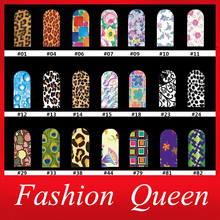 Water Nail Stickers,10sheets/lot Leopard Flowers Mix Nail Decals Water Transfer,Stylish Design Fingernail Tools Nail Decorations