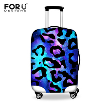 Designer Leopard Style Travel Suitcase Cover Elastic Stretch Waterproof Fashion Galaxy Space Luggage Cover For 18-30 Inch Case(China (Mainland))