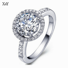 Wholesale Silver Plated Jewelry Fashion Round Bague Engagement Ring Vintage Wedding Accessories Rings For Women YDR038