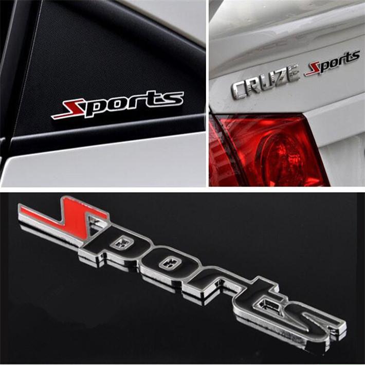 3D Metal Sports Emblem Car Truck Motor Sticker Auto Decal car styling cruze focus 2 3 mazda Granta Solaris - White Stars store