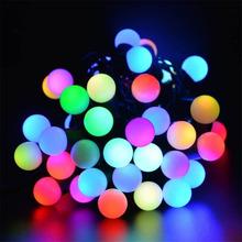 New year RGB 10M 100 LED ball string Christmas light, Party,Wedding decoration,Holiday lights, Free shipping(China (Mainland))