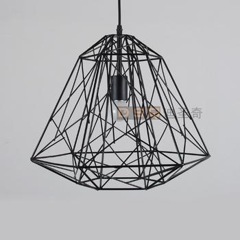 classique american vintage noir et blanc fil de fer lumi re pendante nid cage d 39 oiseau salon. Black Bedroom Furniture Sets. Home Design Ideas