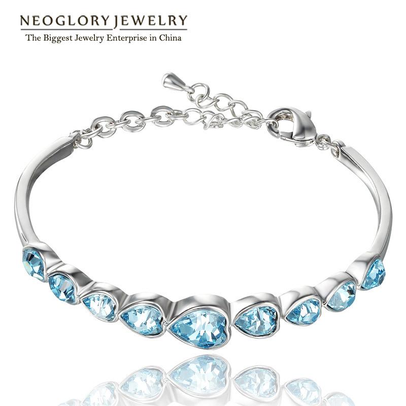 Neoglory MADE WITH SWAROVSKI ELEMENTS CRISTAL Bracelets et Bracelets Pour Les Femmes de Partie de Mode