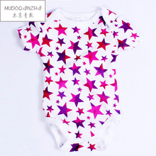 2016 Summer New Fashion Cotton Romper For Baby Boys And Girls Romper Pentagram Manufacturers, Wholesale Baby Clothes 0-12months(China (Mainland))