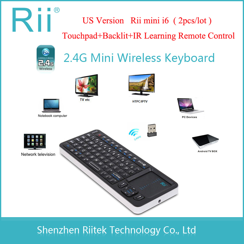 Rii mini i6 K06 2.4G Wireless Keyboard IR learning Remote control Backlit LED Combo Handheld Keybord For Tablet HTPC PC Teclado(China (Mainland))