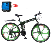Buy Altruism X9 26 inch Bicycle Steel 24 Speed Double Shock Absorption Folding Mountain Bike Double Disc Bicycle Taga Bike Stroller for $314.99 in AliExpress store
