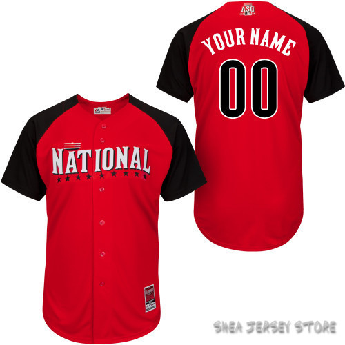 Free Shipping 2015 ALL-STAR GAME National League Personalized Jersey Baseball Jersey Customized Baseball Jersey Top Quality(China (Mainland))