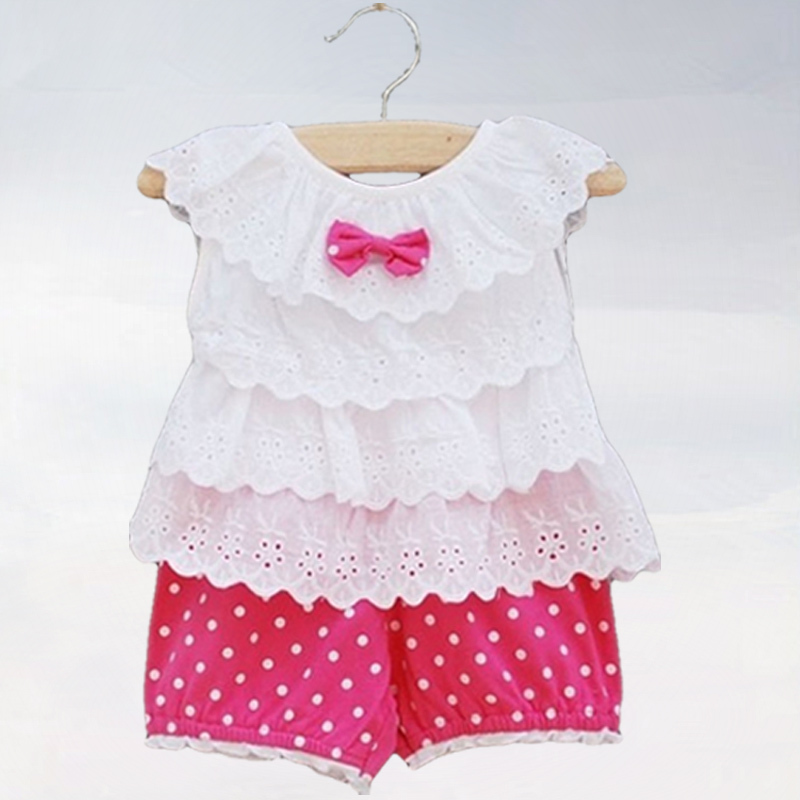 Children's clothing, Female baby clothes,baby girls, princess suits summer set lovely baby girls set, girls lace set,(China (Mainland))