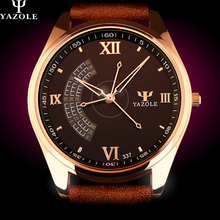 YAZOLE Business Quartz Watch Men 2016 Wristwatches Male Clock Wrist Watch Mens Top Brand Luxury Quartz-watch Relogio Masculino