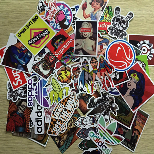 PVC waterproof Car styling 100pcs Sticker Motorcycle Car covers Bicycle stickers Accessories Volkswagen Automobiles decals DIY