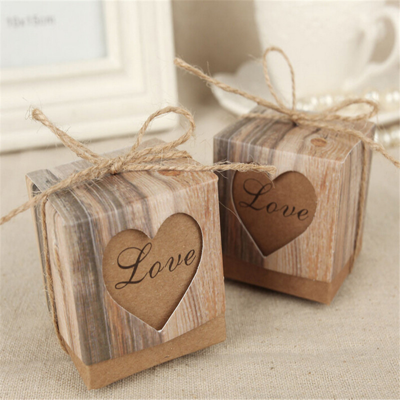 Wedding Decoration 50pcs Romantic Heart Candy Box for birthday Decoration Wedding supplies party Favors Gifts Box photo booth(China (Mainland))