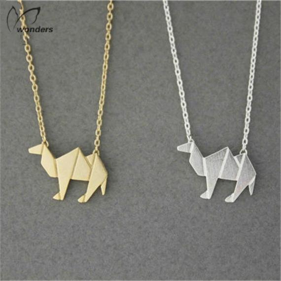 mode bijoux or plaqu argent chanes de corps en acier inoxydable origami chameau du dsert colliers - Location De Chameau Pour Mariage