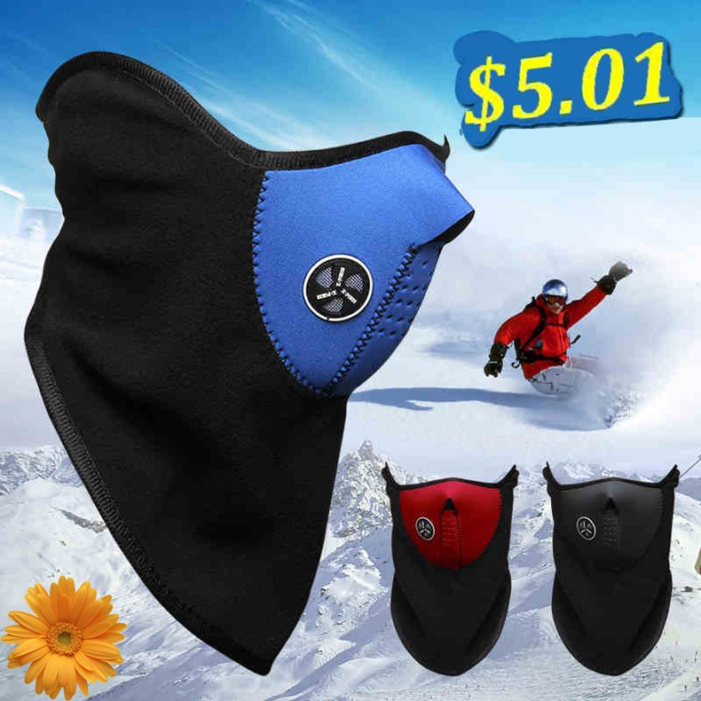 2016 New Arrival Winter Bike Motorcycle Bicycle Ski Snow Snowboard Sport Face Mask Windproof Cold Resist Neck Warm Skiing Bibs (1)