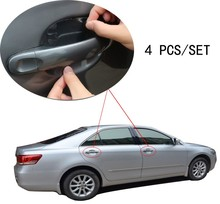 4pcs/set Universal Invisible car styling car door Scratches Automobile Shake Protective car stickers Film car Handle Protective(China (Mainland))