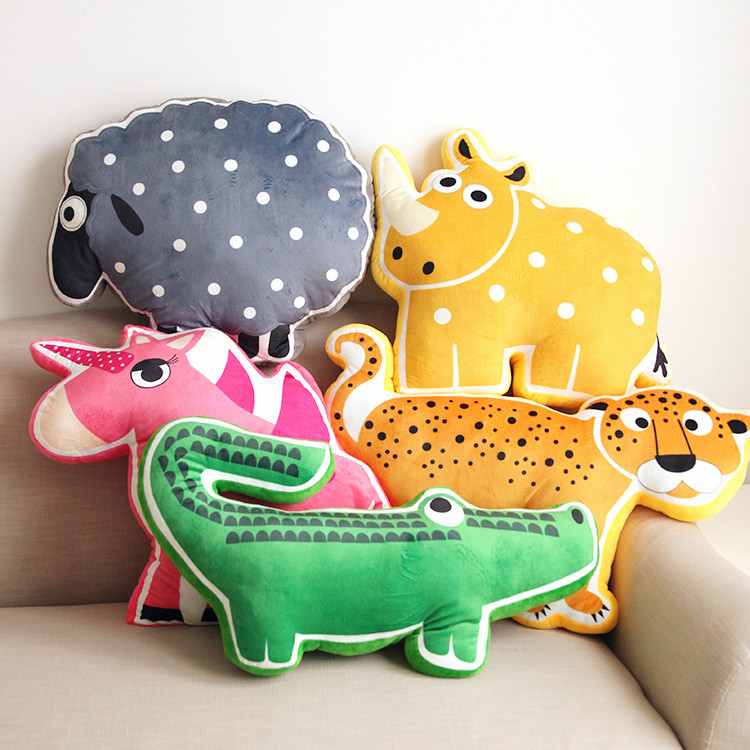 2016 Hot style cartoon cushion kids animal pillow smile cute childern gifts toy decorative throw pillows almofada cojines,w4024(China (Mainland))