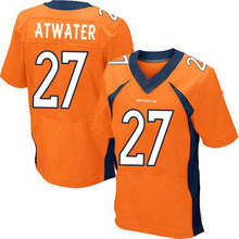 Men's #27 Steve Atwater Elite Orange Team Color Football Jersey %100 Stitched(China (Mainland))