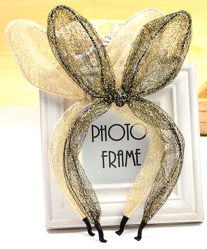 Sweet lace rabbit ears bow headband hair bands style accessory - mammoth jewelry store