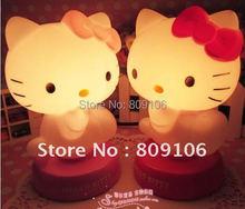Wholesale ,Free shipping, Festival Gift/Romantic hello kitty Night Light / Lamp / bedside lamp / lighting(China (Mainland))