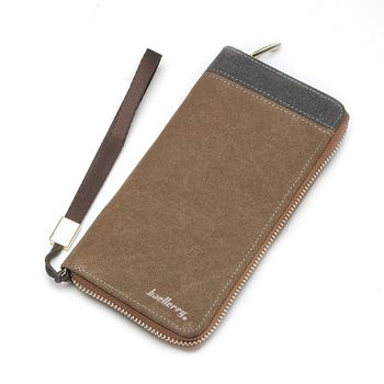 Мужская коллекция холст молния бумажник мужчины сумочке мода клатч кошелек