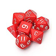 Buy New Sale Set 7PCS Dice Dice Die D4~D20 Games Dungeons & Dragons RPG Dungeons Dragons D&D red for $1.25 in AliExpress store