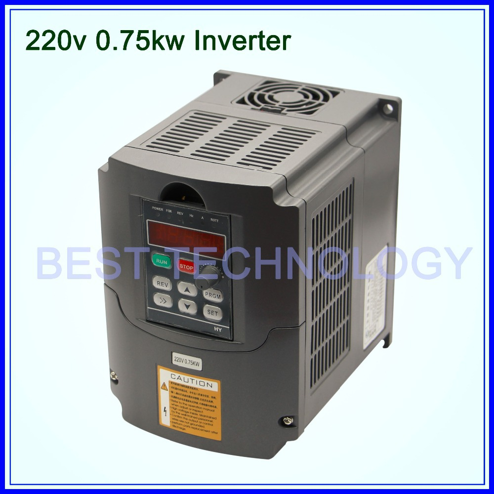 220V 0.75KW VFD CNC Spindle motor speed control 750W Variable Frequency Driver Inverter 1HP or 3HP Input 3HP Output(China (Mainland))