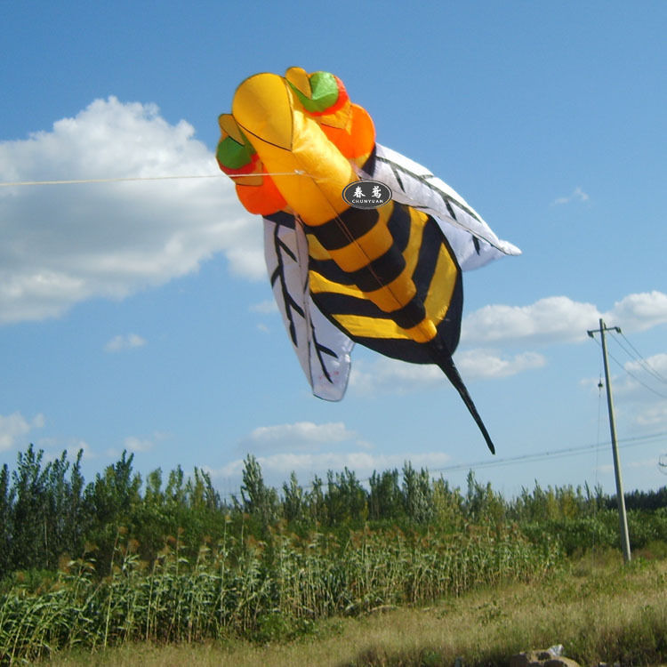 2.8m single line Stunt Hornet bee POWER Sport Kite outdoor toys Free shipping(China (Mainland))