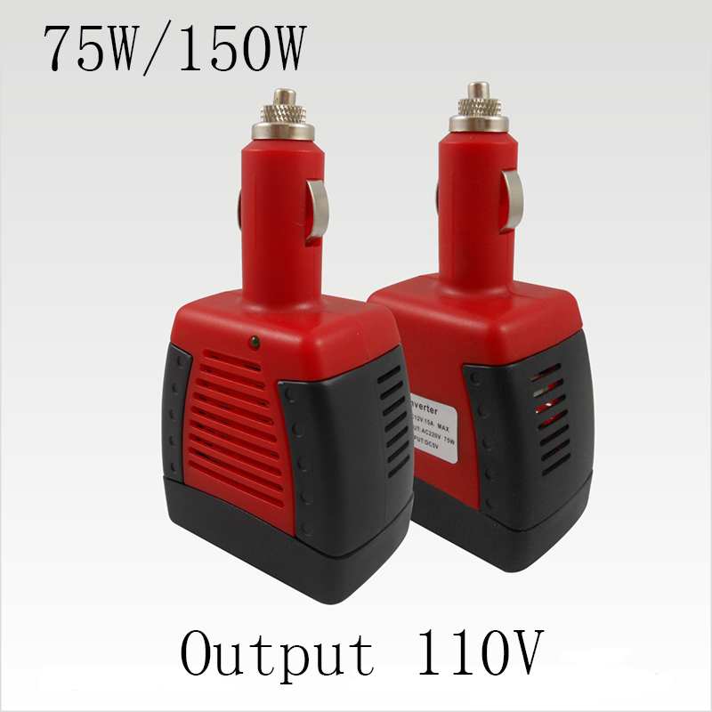 1 piece 75W/150W SEGRE DC 12V to AC 110V Car Power Inverter Invertor with Laptop Charger Adapter USB 5V(China (Mainland))