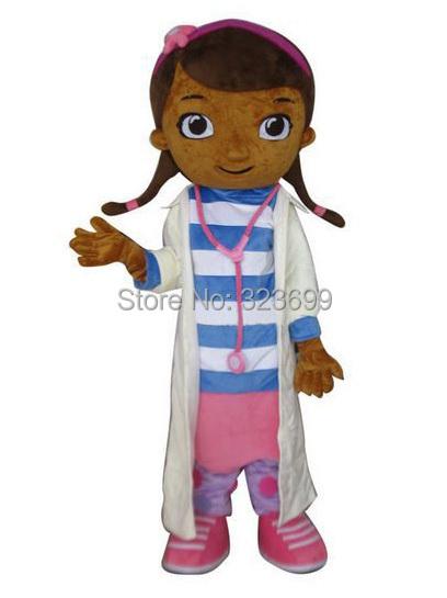 High quality McStuffins adult mascot costume Doc McStuffins mascot costume free shipping(China (Mainland))