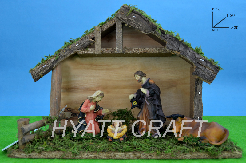 Christmas nativity sets stables resin religious figurines Christmas decorations,holiday supplies, religious statues gift sets.(China (Mainland))