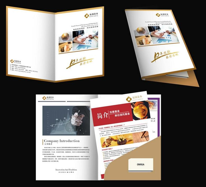 A4 pocket folder printing file cover print customization other sizes Available too(China (Mainland))