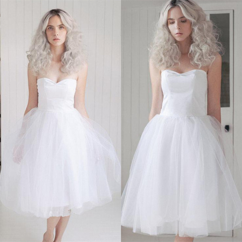 2016 custom made elegant a line sweetheart sleeveeless for Simple elegant short wedding dresses