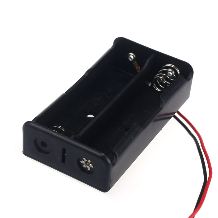 Malloom 2016 Plastic Black 2 Slots 18650 Power Battery Storage Case Box Holder Leads sale items Top quality #LYMA21(China (Mainland))
