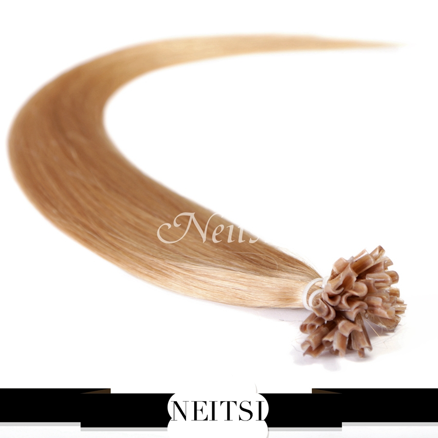 """Neitsi 16"""" 20"""" 24"""" 1g/s 50g 100g Indian Remy Human Hair Keratin U Nail Tip Straight Hair Extensions Pre Bonded Human Hairpieces(China (Mainland))"""