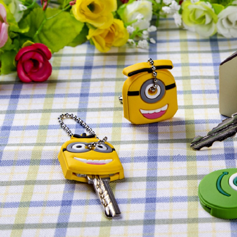 Cartoon Animal Silicone Key Caps Head Covers Keys Keychain Case Novelty Topper Keyring Phone Strap*hot(China (Mainland))