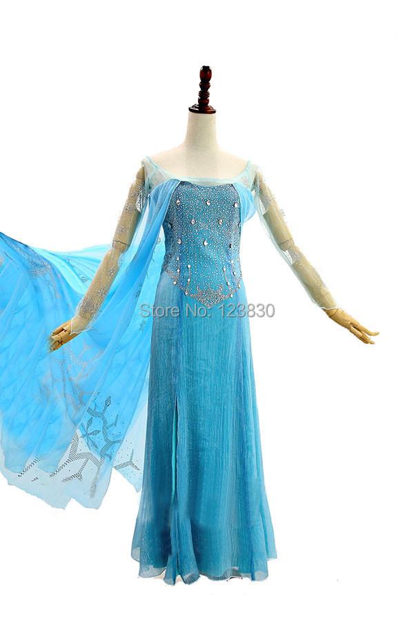 elsa costume girl snow queen frozen princess cosplay halloween costumes Kids fantasy fancy dress custom - No.1 works store