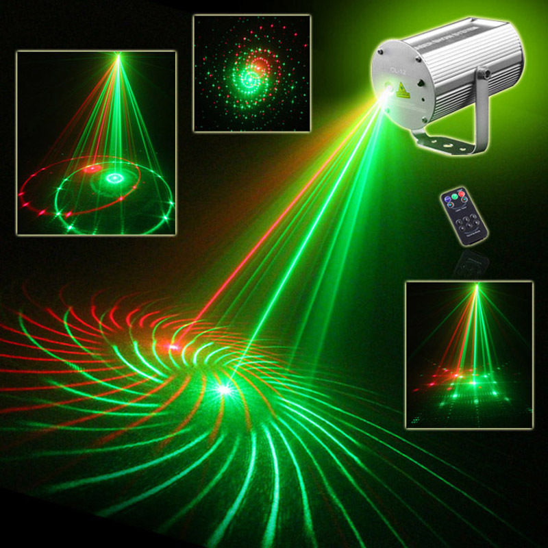 IR Remote 12 Patterns RG Laser Show Ilda RGB Equipment System Red Green Projector Stage Party DJ Home Disco Club(China (Mainland))