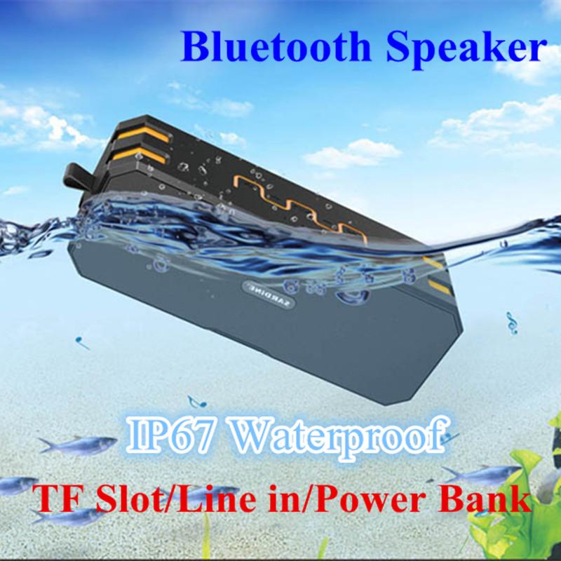 3-in-1 Bluetooth Speaker Power Bank Waterproof IP67 Dust Wireless Speaker Hifi Portable Speaker Outdoor Stereo SoundBox with Mic(China (Mainland))