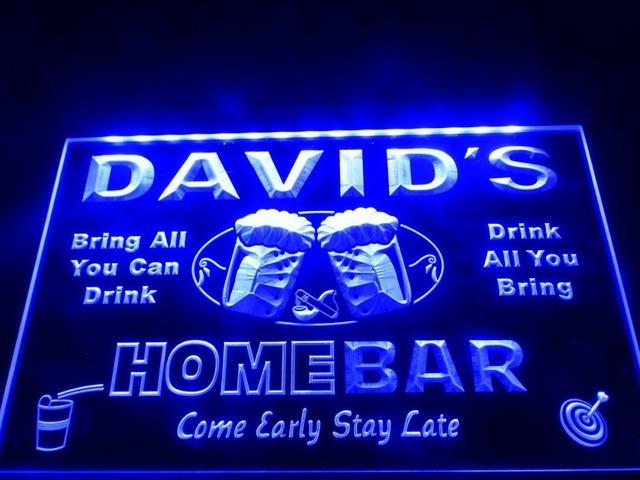 DZ001- Home Bar Beer Family Name LED Neon Light Sign