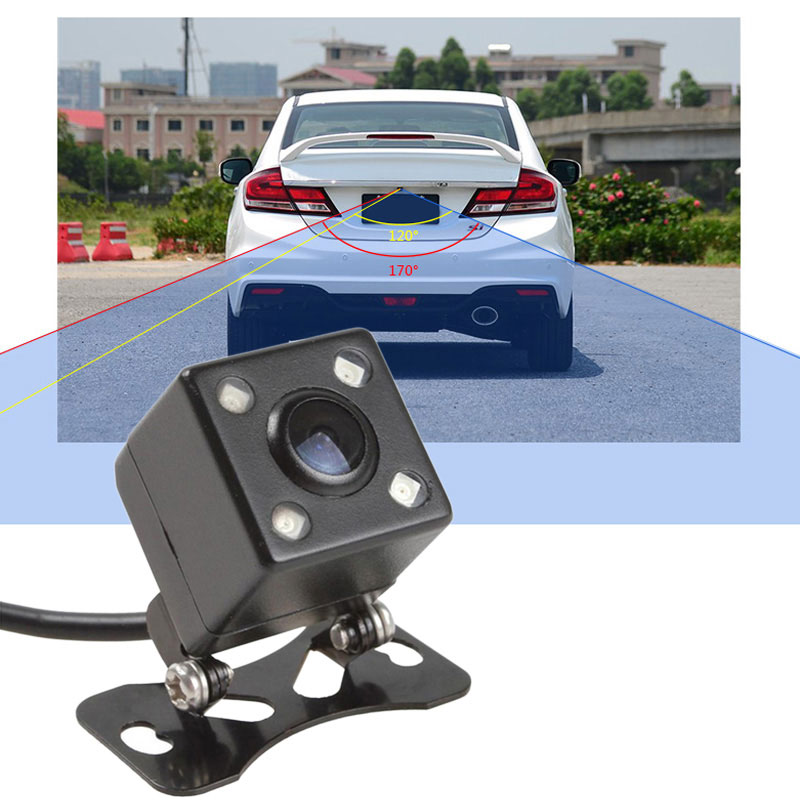 110 Degree Universal Waterproof HD CCD 4 LED Night Vision Car Rearview Camera Monitor Auto Car Reverse Backup Parking Assistance(China (Mainland))